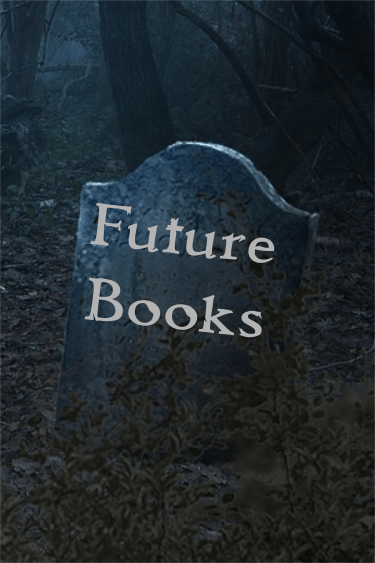 'Future Books' engraved upon headstone in a haunted forest.